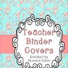 Teacher Binder Covers with Spine Labels (Blue and Pink Fan