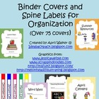 Binder Covers and Spine Labels for Teacher Organization
