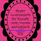 Binder Covers or Inserts to Get Organized!