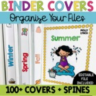 Binder Minders & Finders - Covers & Spines to Keep You Organized!