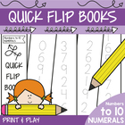 Bingo Books - Numbers to Ten - Print Trace Play