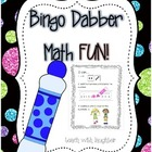 Bingo Dabber Math FUN!