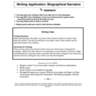 Biographical Narrative Writing Prompt on a Favorite Teacher