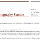 Biographies, Library Lesson Plan
