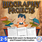 Biography Activities - Great for Black History Month!