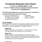 Biography Book Report - Hall of Presidents Wax Museum