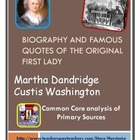 Biography & Famous Quotes of Martha Washington