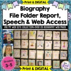 Biography Project & Speech – Common Core Aligned - 6 Wee