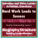 Biography Reading Comp Test Passage, Lessons, Activites - STAAR
