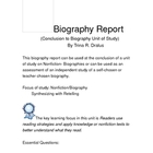 Biography Report