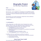 Biography Writing Activity with Common Core Standards