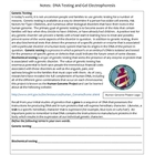 Biology Notes - DNA Testing, Genetic Engineering, Cloning