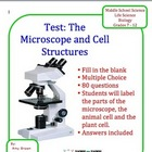 Biology Test on Microscopes and Cell Structure