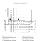 Biology and the Scientific Method Crossword Puzzle
