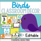 Bird Classroom Decor Pack (Bright and Colorful Designs)