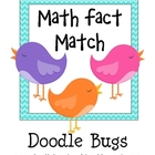 Bird Math Fact Match * Math Center * Pocket Chart Activity