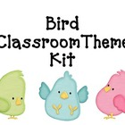 Bird & Polka Dot Classroom Theme Kit