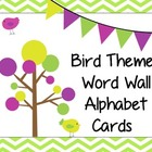 Bird Theme Word Wall Alphabet Cards