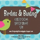 Birdies &amp; Bunting Classroom Decorative Set