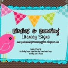 Birdies &amp; Bunting Literacy Signs