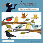 Birds &amp; Branches Clip Art