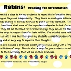 Birds: Read for Information  (Robins/Birds)