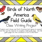 Birds of North America Field Guide Project ~ Create a Class Book!