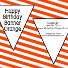 Birthday Banner Orange