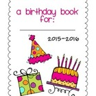 Birthday Book Class Gift