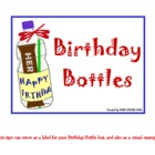 Birthday Bottles for Students
