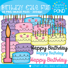 Birthday Cake Fun - Clipart From the Pond
