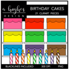 Birthday Cakes {Graphics for Commercial Use}