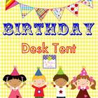 Birthday Desk Tent FREE