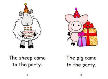 Birthday Emergent Reader - Party Animals
