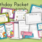 Birthday Kindergarten/First Grade Pack - Back to School
