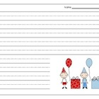 Birthday Lined Writing Paper {FREEBIE}
