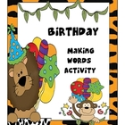 Birthday Making Words