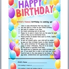 Birthday Notice