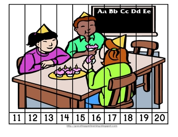 Birthday Number Order and Skip Counting Puzzles