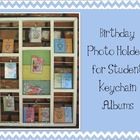 Birthday Photo Holder for Student Keychain Albums