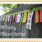 Birthday Ribbon Garland