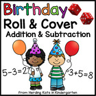 Birthday Roll & Cover Addition & Subtraction Games!