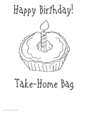 Birthday Take Home Bag or Binder:  Activities for Student