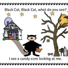 Black Cat,What Do You See-Halloween ebook/flashcards/flann