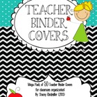 Black Chevron and Turquoise {50 Teacher Binder Covers!}
