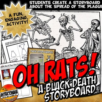 Black Death Bubonic Plague Story Board Activity Medieval Europe