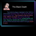Black Death PowerPoint