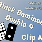 Black Dominoes No Line Double Nine Clip Art Set