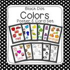 Black Dot Learn My Colors Poster Set