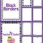 Black Frames and Borders Clipart  Commercial Use OK